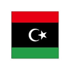 "Libya Flag Square Sticker 3"" x 3"""