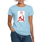 Star, Hammer and Sickle Women's Pink T-Shirt
