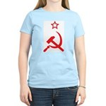 Star, Hammer and Sickle Women's Pink T-Shirt