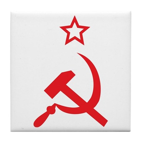 Star, Hammer and Sickle Tile Coaster