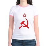Star, Hammer and Sickle Jr. Ringer T-Shirt