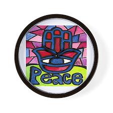 Hamsa Peace Khamsa Wall Clock