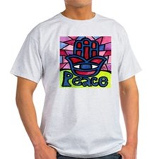 Hamsa Peace Khamsa Ash Grey T-Shirt