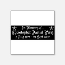 """CDP11T3WHT.png Square Sticker 3"""" x 3"""""""