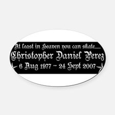 CDP8T3WHT.png Oval Car Magnet