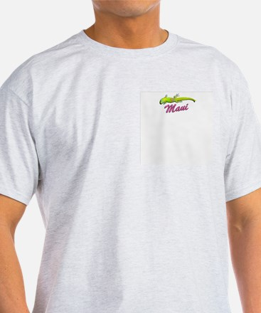 Stuck On Maui Ash Grey T-Shirt