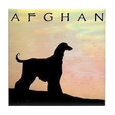 Unique Afgan hound Tile Coaster