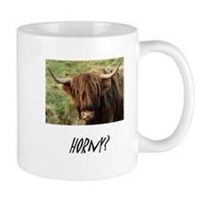 Horny Highland Cow Small Mug
