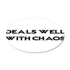 CHAOS1BLK1.png Oval Car Magnet