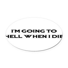 HELL1BLK1.png Oval Car Magnet