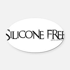 SILICONE1_II.png Oval Car Magnet