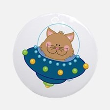 space Kitty Ornament (Round)