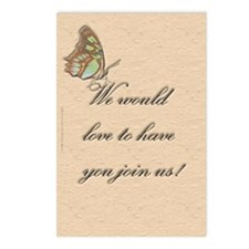 Butterfly Invitation Postcards (Package of 8)