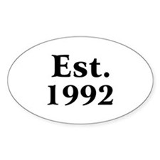 Est. 1992 Oval Decal