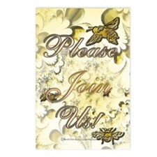 Honey Bee Invitation Postcards (Package of 8)