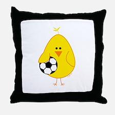 Soccer Chick Throw Pillow