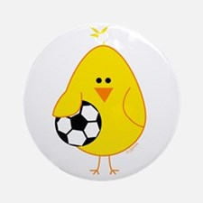 Soccer Chick Ornament (Round)