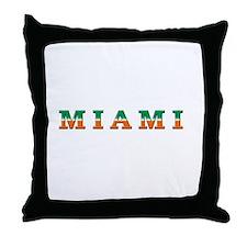 Miami hurricanes Throw Pillow