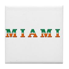 Cool Miami hurricanes Tile Coaster