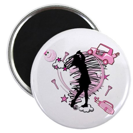 """TEED OFF! GOLFER 2.25"""" Magnet (100 pack)"""