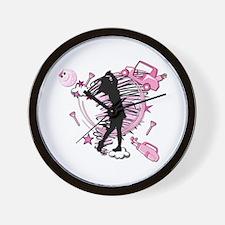 TEED OFF! GOLFER Wall Clock