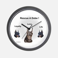 Cool Doberman rescue Wall Clock