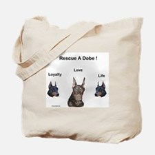 Doberman rescue Tote Bag