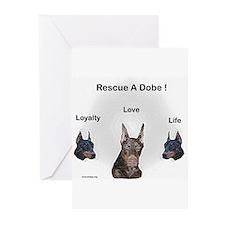 Doberman rescue Greeting Cards (Pk of 10)