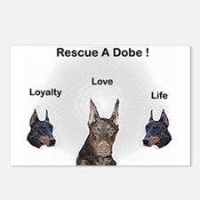 Postcards (Package of 8) Rescue a Dobe!