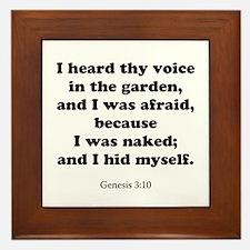 Genesis 3:10 Framed Tile