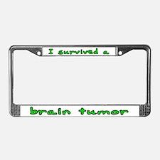 Brain tumor - License Plate Frame