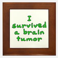 Brain tumor - Framed Tile