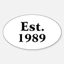 Est. 1989 Oval Decal