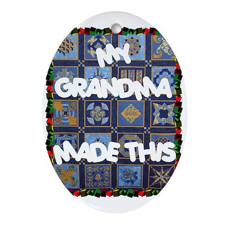 My Grandma Oval Ornament
