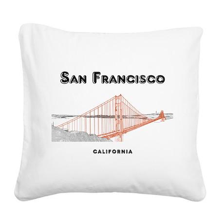 San Francisco Square Canvas Pillow
