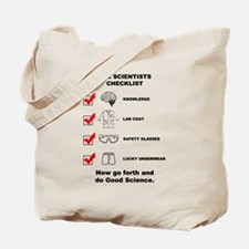 The Scientists Checklist Tote Bag