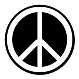 Peace Round Car Magnets