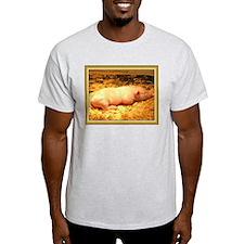 Cute sleeping baby piglet T-Shirt