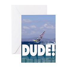 Windsurfer Dude Greeting Card
