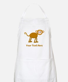 Monkey and Text. Apron