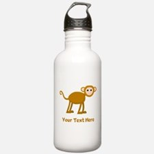 Monkey and Text. Water Bottle