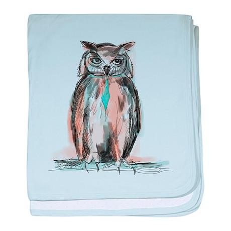 Owl sketch baby blanket