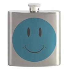 Smiley Blue Face Flask