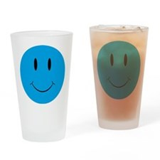 Smiley Blue Face Drinking Glass