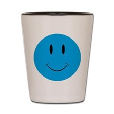 Smiley Blue Face Shot Glass
