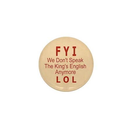 English Mini Button (10 pack)