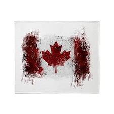 Canada Graffiti Throw Blanket