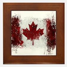 Canada Graffiti Framed Tile