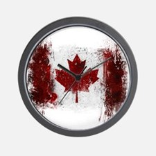 Canada Graffiti Wall Clock