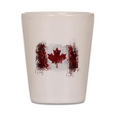 Canada Graffiti Shot Glass